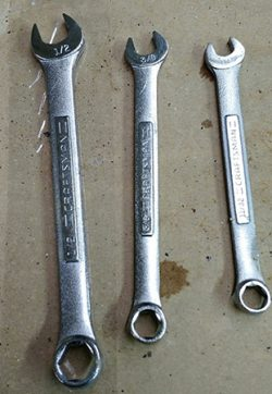 tools with rust damage removed